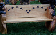 Bear Bench with Maple Leaf